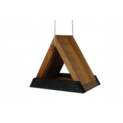 Троугласта хранилица за птице - црно-браон -