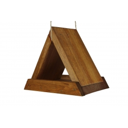 Троугласта хранилица за птице - браон -