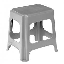 Silvery-grey plastic Maxi stool