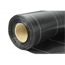 Melns anti-nezāļu audums (agrotekstils) - biezāks par vilnu - 0,40 x 100,00 m -