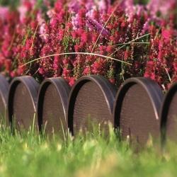 Pagar taman - Jalur Kebun - 10 m - Coklat -