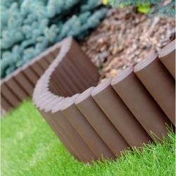Garden palisade - high - 2,7 m - Brown