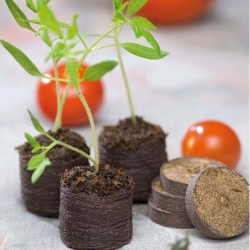 Expandable peat pellets 27 mm - 204 pieces