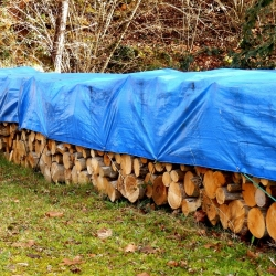 Tarpaulin - 4 x 6 m - biru -