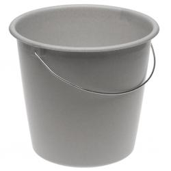 سطل گرانیتی 10 لیتری گرانیت خاکستری با دسته فلزی -