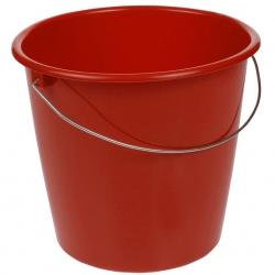 سطل قرمز 10 لیتری با دسته فلزی -