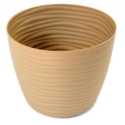 """""""Sahara petit"""" round plant pot casing - 13 cm - cafe latte"""