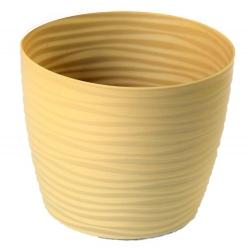 """""""Sahara petit"""" okrúhla nádoba na kvetináče - 11 cm - čaj s mliekom -"""