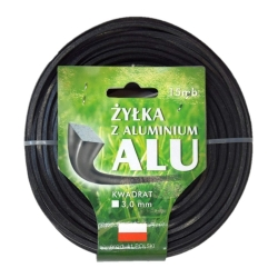 Mowing line for grass trimmers - 3 mm, 15 m - square