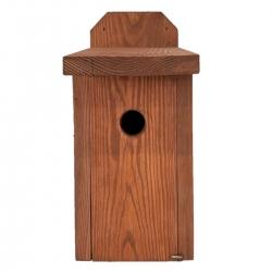 Кућа за птице за сисе, врапце на дрвећу и муваре - које се монтирају на зидове - браон -