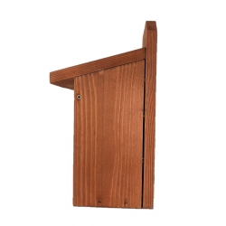 Birdhouse for tits, tree sparrows and flycatchers - to be mounted on walls - brown