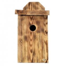 Holubník pre kozy, vrabce stromov a mušky - určené na montáž na steny - spálené drevo -