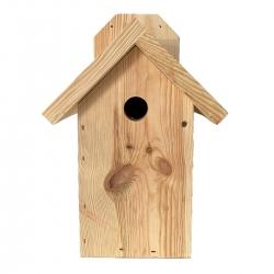 स्तन, गौरैया और पोषक तत्वों के लिए दीवार पर चढ़कर बर्डहाउस - कच्ची लकड़ी -