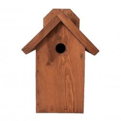 Зидна кућица за птице за сисе, врапце и орахе - смеђа -