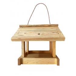 Klassikaline rippuv lindude toitja - toores puit -