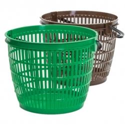Hasır sepet - 12 l - yeşil -
