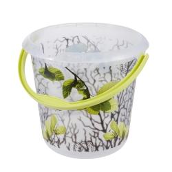ایلوی - سطل 10 لیتری با نقوش تزئینی - برگهای بهاری -