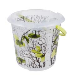 Ilvie - baldi 10-liter dengan motif hiasan - daun musim bunga -