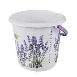 Ilvie - baldi 10 liter dengan motif hiasan - lavender -