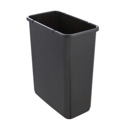 Tempat sampah magne dengan tutup tekan-untuk-buka - 10 liter - abu-abu grafit -