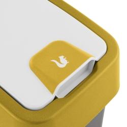 Tempat sampah Magne Capri-yellow 10 liter dengan tutup tekan-untuk-buka -