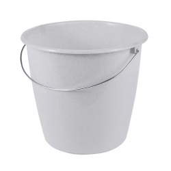 سطل گرانیتی 5 لیتری گرانیتی خاکستری با دسته فلزی -