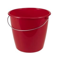 سطل قرمز 5 لیتری قرمز با دسته فلزی -