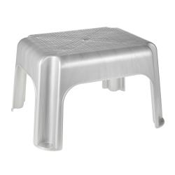Plastic silvery-grey stool