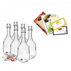 Набор бутылок ликера с самоклеющимися этикетками -