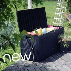 """Сундук для сада, балкона или террасы - """"Boxe Matuba"""" - 310 литров - серый антрацит -"""