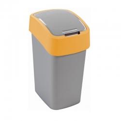 10 literes sárga Flip Bin hulladékszóró tartály -