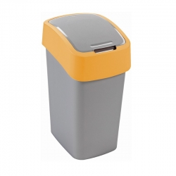 Tempat sampah penyortiran Flip Bin kuning 25 liter -