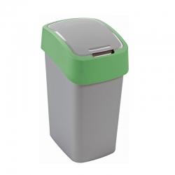 Tempat sampah penyortiran Flip Bin hijau 25 liter -