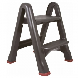 Foldable stool - mini ladder - graphite grey