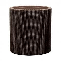 Medium-sized round pot plant - ø 36 cm - Cylinder Planter - brown