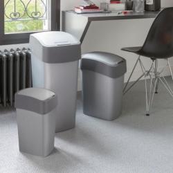 10 literes szürke Flip Bin hulladékszóró tartály -