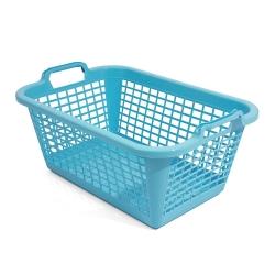 Giỏ giặt hình chữ nhật màu xanh - 50 x 35 cm -
