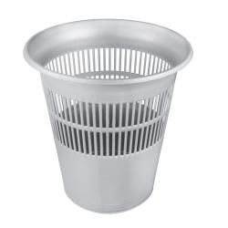 Hálós szemetesdoboz, papírhulladék-tartály, irodai portartály - 11 liter - világos ezüst -
