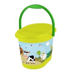"""سطل شن و ماسه کودک """"مزرعه خنده دار"""" - علفزار سبز -"""