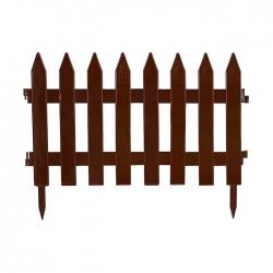 Kerti kerítés szegélye - 27 cm x 3,2 m - barna -