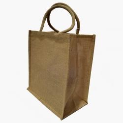 Džutas tote soma - 32 x 35 x 20 cm - dabiska krāsa -