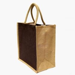 Džutas tote soma - 32 x 35 x 20 cm - brūna -