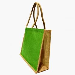 Džutas tote soma - 40 x 35 x 15 cm - zaļa -