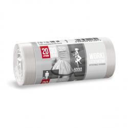 Sacchetti spazzatura bianchi - BAGNO - 20 litri - 30 pz - HDLD -