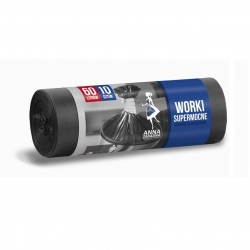 Bolsas para basura negras - EXTRASTRONG - 60 litros - 10 piezas - LDPE -