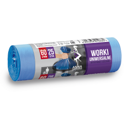 Bolsas de basura azules - MULTIUSO - 60 litros - 25 uds. - HDLD -