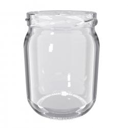 Glass twist-off jars, mason jars - fi 82 - 540 ml with white lids - 8 pcs