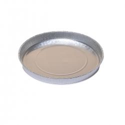 Round aluminium cake tin for pizzas and pizzerinas  - 600 ml - 5 pcs