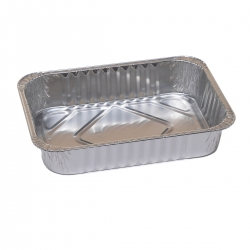 Long rectangular aluminium cake tin for cookies, gingerbreads and Easter cakes - 680 ml - 5 pcs
