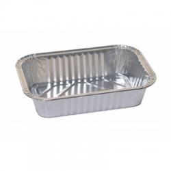 Hosszú, téglalap alakú alumínium sütés és sült ón almás pitékhez, pástétomokhoz és halakhoz - 790 ml - 5 db -